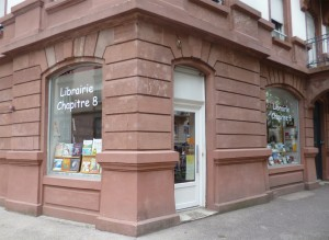 Photo de la devanture de la librairie